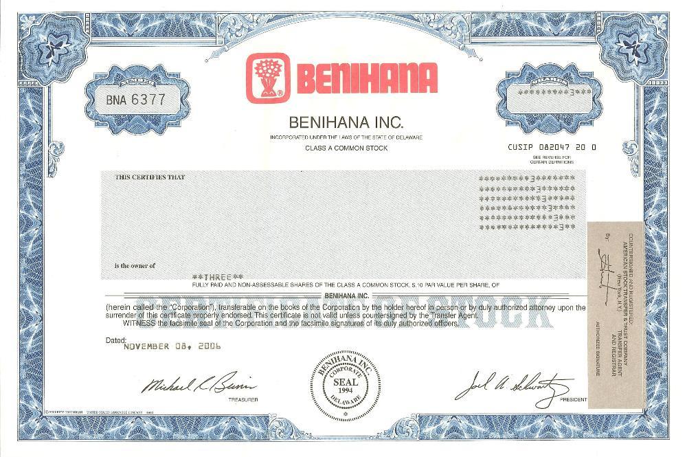 Benihana Certificate Best Design Sertificate 2018