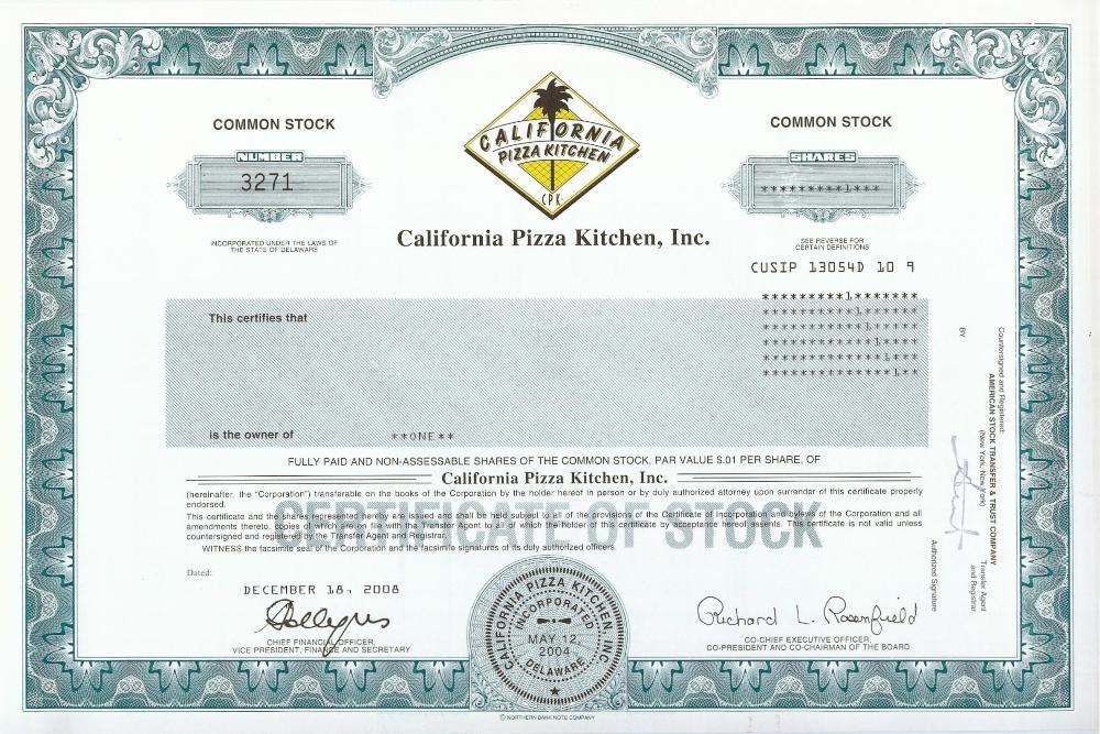 California Poizza Kitchen
