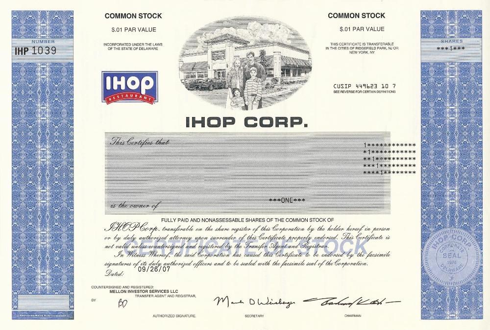 Ihop Company Profile