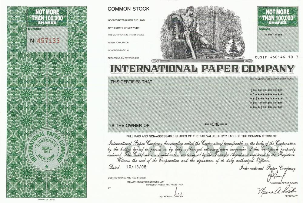 international paper stock prices International paper has a price of 5648 international paper price (ip) charts, historical data, comparisons and more.
