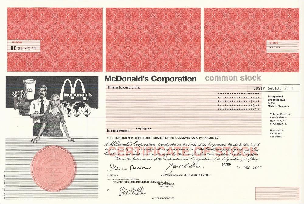share certificate template companies house - mcdonald 39 s stock certificate