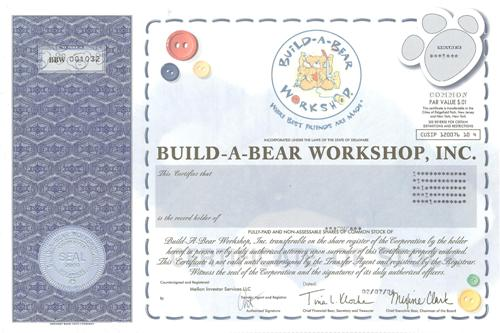 build a bear certificate template - build a bear workshop company profile