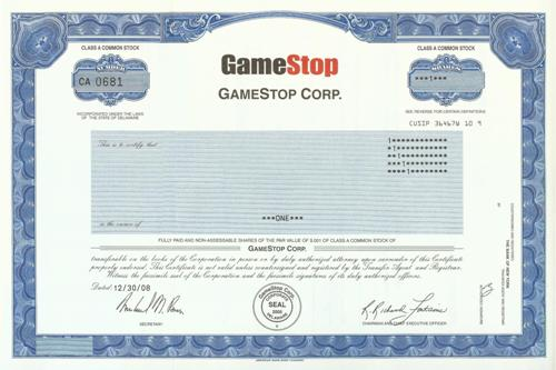 Gamestop company profile for Share certificate template alberta