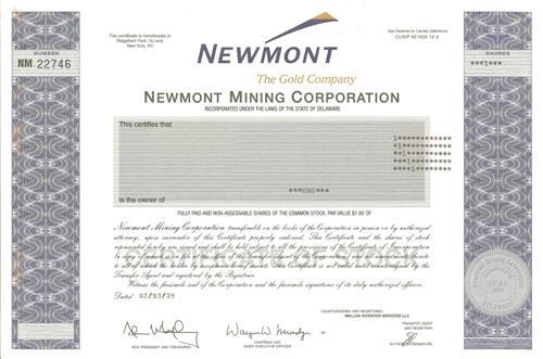 Newmont Mining Company Profile