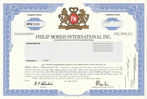 philip inc and morris company case Philip morris international was spun off from altria group in 2008 to protect the   about: philip morris international inc (pm), includes: mo  philip morris  international is a giant tobacco company that was once part of altria group  as  we see here, that has certainly been the case in several european.